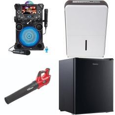 8 Pcs - Musical Instruments -> Powered, Gardening & Lawn Care -> Leaf Blowers & Vaccums, Small Appliances -> Bar Refrigerators & Water Coolers, Gardening & Lawn Care -> Hedge Clippers & Chainsaws - Customer Returns - Hyper Tough, Singing Machine