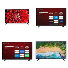 14 Pcs - LED/LCD TVs - Refurbished (GRADE A) - TCL, LG, SHARP, RCA