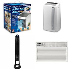 10 Pallets - 167 Pcs - Humidifiers / De-Humidifiers, Fans, Air Conditioners - Customer Returns - As Seen On TV, Honeywell, Lasko, DeLonghi