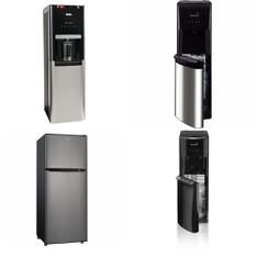 Pallet – 9 Pcs – Bar Refrigerators & Water Coolers, Microwaves – Customer Returns – Primo, Hamilton Beach, WHIRLPOOL, Kalorik
