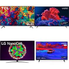 32 Pcs – LED/LCD TVs – Refurbished (GRADE A, GRADE B) – VIZIO, TCL, LG, JVC