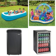 3 Pallets - 85 Pcs - Pools & Water Fun, Fans, Air Conditioners, Outdoor Sports - Customer Returns - Play Day, Lasko, SwimSchool, De'Longhi