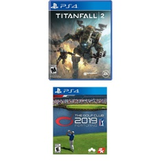 12 Pcs – Sony Video Games – New – Titanfall 2 -Standard Edition (PlayStation 4), The Golf Club 2019 (PS4)