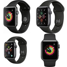 26 Pcs – Apple Watch – Refurbished (GRADE D) – Models: MTF32LL/A, MU6D2LL/A, MWV82LL/A, MTF02LL/A