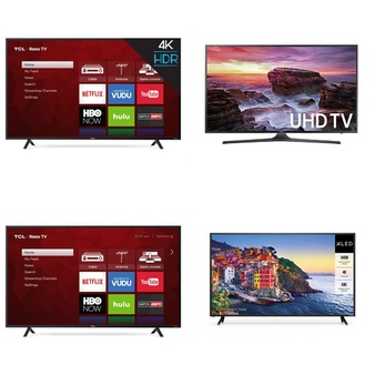 Clearance! Pallet - 8 Pcs - TVs - Tested Not Working - TCL, VIZIO, Samsung