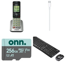 3 Pallets – 399 Pcs – Other, Cordless / Corded Phones, Keyboards & Mice, Unsorted – Customer Returns – Apple, VTECH, Logitech, AT&T