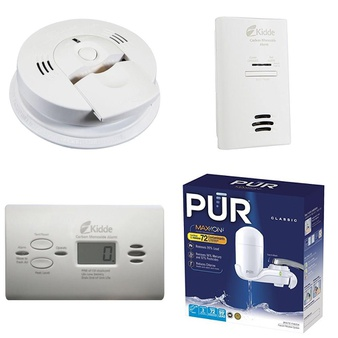 141 Pcs – Home Improvement -> Hardware, Home -> Smoke Alarms & CO Detectors, Home -> Lighting & Light Fixtures, Home -> Kitchen & Dining – Customer Returns – Brinks, Kidde, Brink's, Kaz