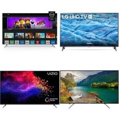 5 Pcs – LED/LCD TVs – Refurbished (GRADE A, No Stand) – VIZIO, Onn, LG, HITACHI