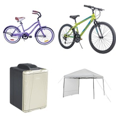Pallet – 7 Pcs – Cycling & Bicycles, Camping & Hiking – Customer Returns – Columbia, Coleman, Movelo, Huffy