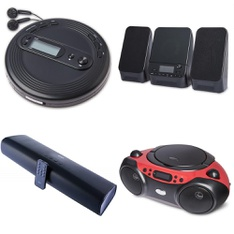 Pallet - 83 Pcs - Accessories, Speakers, Receivers, CD Players, Turntables - Customer Returns - onn., Onn, One For All, GE