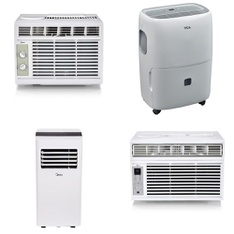 Pallet – 13 Pcs – Air Conditioners, Unsorted – Customer Returns – Midea, Primo, TCL North America, Sunbeam