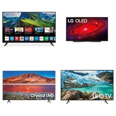 18 Pcs – LED/LCD TVs – Refurbished (GRADE A) – Samsung, VIZIO, ELEMENT, TCL