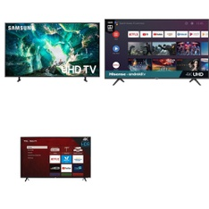 5 Pcs – LED/LCD TVs – Refurbished (GRADE A) – Samsung, HISENSE, TCL