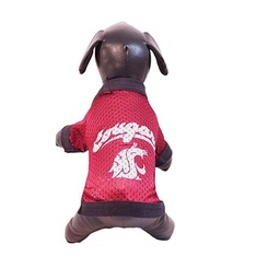 28 Pcs - All Star Dogs NCAA Athletic Mesh Dog Jersey Washington State Cougars Size XXS - Like New, New - Retail Ready