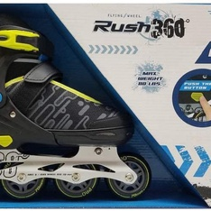 5 Pcs – Rush 360 980211197 Pro Skates Inline Skates Rush 360 Degrees, Black and Yellow – New – Retail Ready