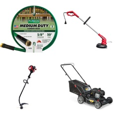 3 Pallets - 54 Pcs - Trimmers & Edgers, Accessories, Mowers - Customer Returns - Hyper Tough, Flexon, Murray, Orbit