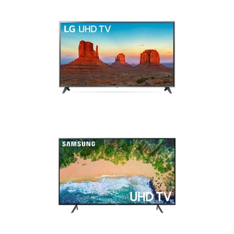 3 Pcs – LED/LCD TVs (70″ – 82″) – Refurbished (GRADE A, No Stand) – LG, Samsung