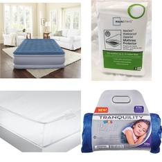 3 Pallets – 82 Pcs – Covers, Mattress Pads & Toppers, Comforters & Duvets, Bedding Sets – Customer Returns – Mainstay's, Mainstays, Aller-Ease, Beautyrest