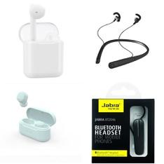Pallet - 447 Pcs - In Ear Headphones, Accessories, Powered - Customer Returns - Onn, One For All, Jabra, onn.