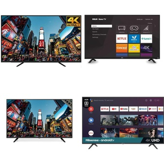 48 Pcs – LED/LCD TVs – Refurbished (GRADE A, GRADE B) – RCA, HISENSE, TCL, Samsung
