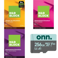 125 Pcs – Software, Other, Nintendo, Games – Customer Returns – H&R Block, onn., Milestone Systems