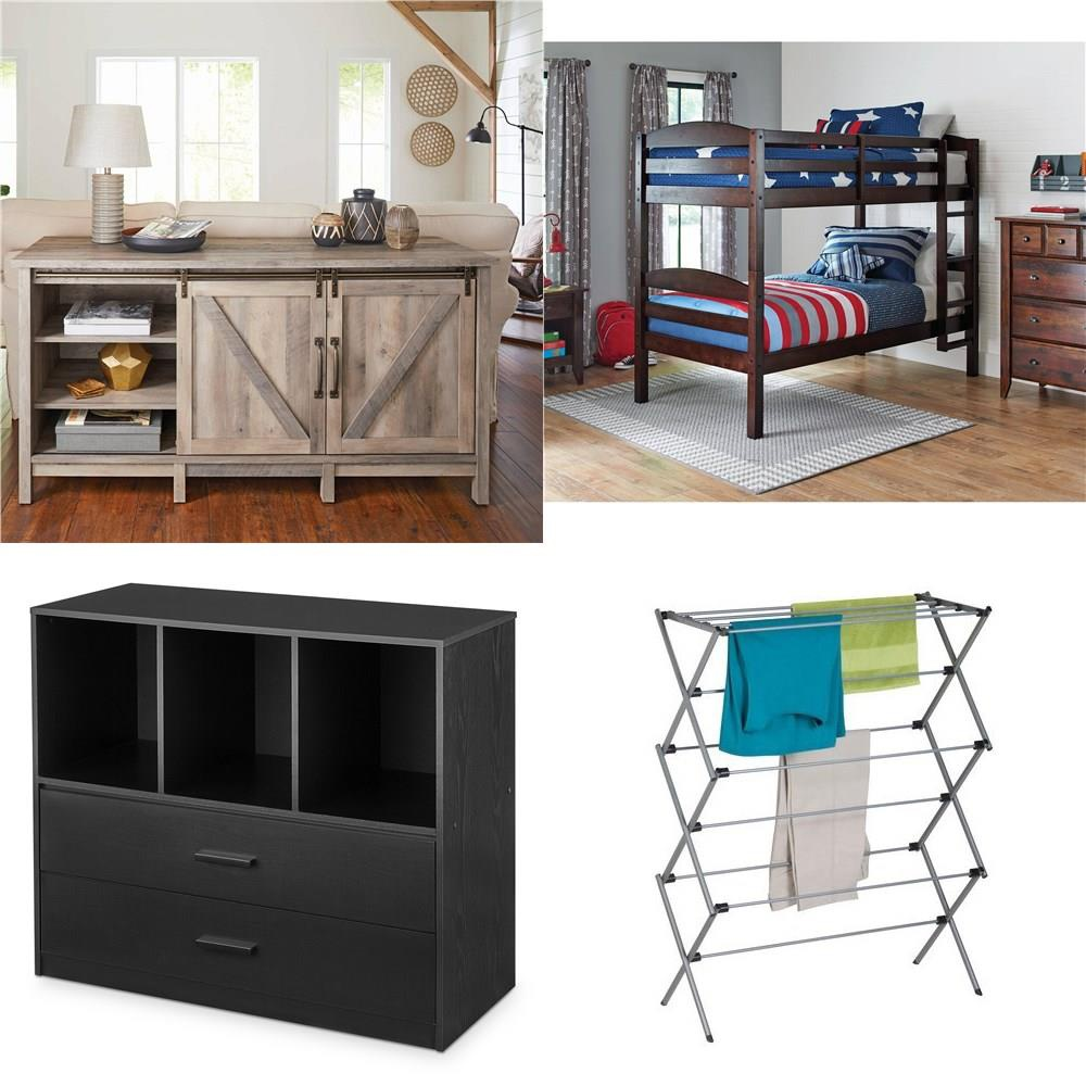3 Pallets - 71 Pcs - Curtains & Window Coverings, Hardware, Bedroom, TV  Stands, Wall Mounts & Entertainment Centers - Customer Returns -  Mainstay\'s, ...