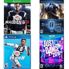76 Pcs - Video Games & Gaming Software - Like New, New, Used, New Damaged Box - EA SPORTS, Electronic Arts, Ubisoft, Activision