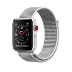 5 Pcs - Apple Watch Gen 3 Series 3 Cell 38mm Silver Aluminum - Seashell Sport Loop MQJR2LL/A - Refurbished (GRADE B)