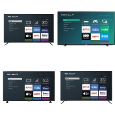 60 Pcs - LED/LCD TVs - Refurbished (GRADE A, GRADE B) - onn., Philips, Onn, LG