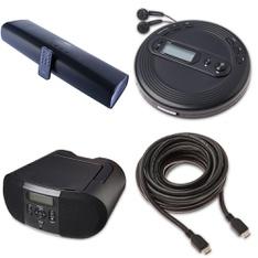 Pallet - 88 Pcs - Accessories, Speakers - Customer Returns - Onn, onn., One For All, CROSLEY