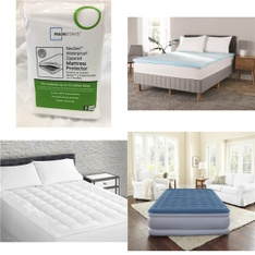 Pallet – 36 Pcs – Covers, Mattress Pads & Toppers – Customer Returns – Mainstays, Mainstay's, Sertapedic, Beautyrest