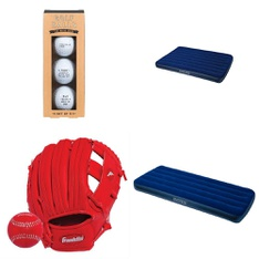 Pallet - 121 Pcs - Camping & Hiking, Outdoor Sports, Exercise & Fitness, Boats & Water Sports - Customer Returns - Intex, Franklin Sports, Coleman, Ozark Trail