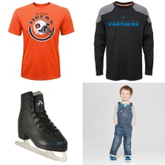 75 Pcs - Boy`s Clothing and Shoes - New Damaged Box, Like New, Open Box Like New, Used - Retail Ready - Outerstuff, NCAA by Outerstuff, PUMA, Spotted Zebra