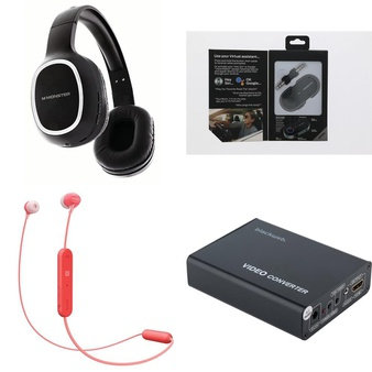 3 Pallets – 900 Pcs – Accessories, Over Ear Headphones, Lamps, Parts & Accessories, In Ear Headphones – Customer Returns – Monster, Blackweb, Sony, Apple