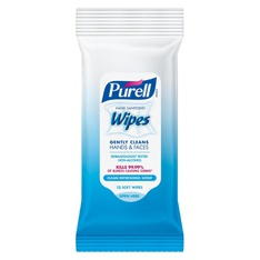 28 Pcs - Purell Fresh Hand Sanitizing Wipes - Trial Size- 15ct - New - Retail Ready