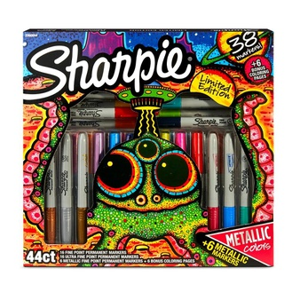 91 Pcs – Sharpie Permanent Markers 44 Count, Multicolor – 18 Years and Up – New – Retail Ready