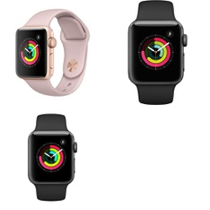 8 Pcs – Series 3 Apple Watch – 38MM – GPS- GRADE D – Models: MQKW2LL/A, MQKV2LL/A, MTF02LL/A