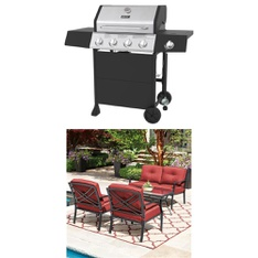 Pallet - 3 Pcs - Grills & Outdoor Cooking - Customer Returns - Backyard Grill, Mainstay's