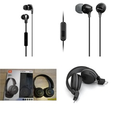 54 Pcs - Headphones & Portable Speakers - Refurbished (GRADE A, GRADE B) - Heyday, Sony, Skullcandy, JLab