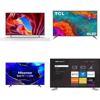 50 Pcs – LED/LCD TVs – Refurbished (GRADE A, GRADE B) – RCA, TCL, JVC, HISENSE