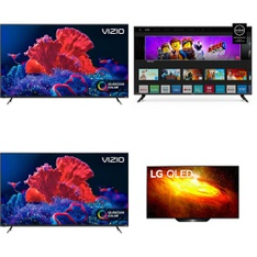 48 Pcs – LED/LCD TVs – Refurbished (GRADE A, GRADE B) – VIZIO, LG, JVC, Sony