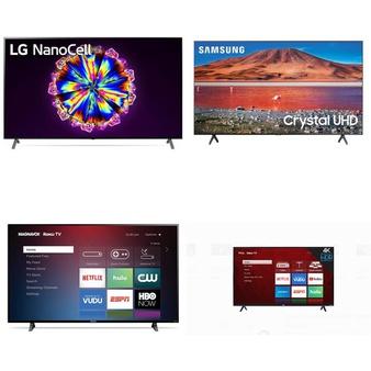 5 Pcs – LED/LCD TVs – Refurbished (GRADE C) – Samsung, TCL, MAGNAVOX, LG