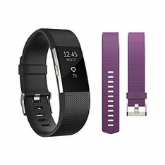 21 Pcs – Fitbit FB407SBKS Charge 2 Activity Tracker Bundle – Plum Band Included – Refurbished (GRADE A)