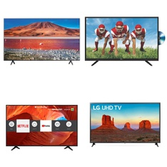 7 Pcs – LED/LCD TVs – Refurbished (GRADE A) – TCL, HISENSE, LG, SHARP