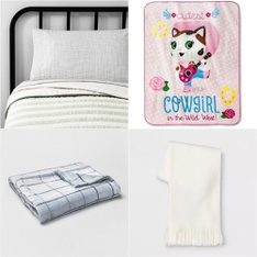 122 Pcs - Blankets, Throws & Quilts - New - Retail Ready - threshold, Hearth & Hand with Magnolia, Room Essentials, Disney