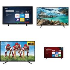 7 Pcs – LED/LCD TVs – Refurbished (GRADE A, GRADE B) – RCA, Sanyo, Samsung, TCL