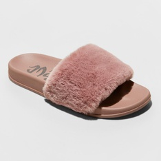 100 Pcs - Mad Love Women's Phoebe Slide Sandal - Mauve Size 9 - New - Retail Ready