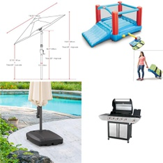 Pallet - 13 Pcs - Patio, Outdoor Play - Customer Returns - CorLiving, HomeTrends, Little Tikes, Backyard Grill