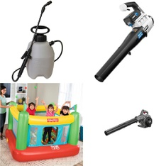 Pallet - 41 Pcs - Outdoor Play, Accessories, Leaf Blowers & Vaccums - Customer Returns - Hart, Chapin, Fisher-Price, Hyper Tough