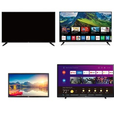 9 Pcs – LED/LCD TVs – Refurbished (GRADE A, GRADE B, No Stand) – Onn, LG, Philips, TCL